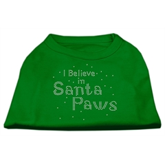 Mirage Pet Products I Believe in Santa Paws Shirt Emerald Green XL (16)