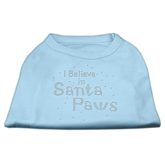 Mirage Pet Products I Believe in Santa Paws Shirt Baby Blue XS (8)