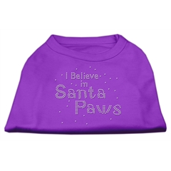 Mirage Pet Products I Believe in Santa Paws Shirt Purple XL (16)
