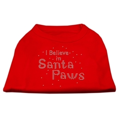 Mirage Pet Products I Believe in Santa Paws Shirt Red XXL (18)