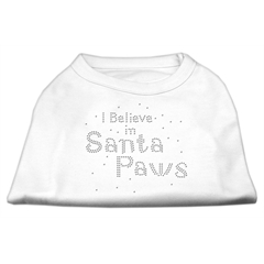 Mirage Pet Products I Believe in Santa Paws Shirt White XXL (18)