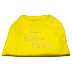 Mirage Pet Products I Believe in Santa Paws Shirt Yellow XS (8)
