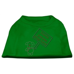 Mirage Pet Products Santa Stop Here Shirts Emerald Green XXL (18)