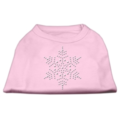 Mirage Pet Products Snowflake Rhinestone Shirt  Light Pink L (14)