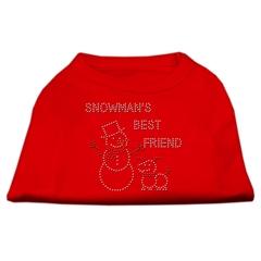 Mirage Pet Products Snowman's Best Friend Rhinestone Shirt Red XL (16)