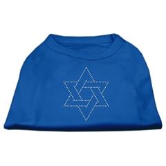 Mirage Pet Products Star of David Rhinestone Shirt Blue XXL (18)