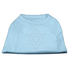 Mirage Pet Products Star of David Rhinestone Shirt   Baby Blue M (12)