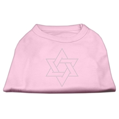 Mirage Pet Products Star of David Rhinestone Shirt   Light Pink XL (16)