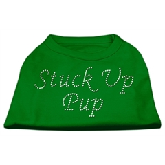 Mirage Pet Products Stuck Up Pup Rhinestone Shirts Emerald Green Med (12)