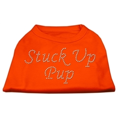 Mirage Pet Products Stuck Up Pup Rhinestone Shirts Orange Med (12)