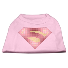 Mirage Pet Products Super! Rhinestone Shirts Light Pink XS (8)