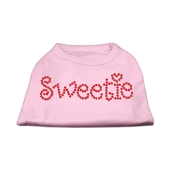 Mirage Pet Products Sweetie Rhinestone Shirts Light Pink XS (8)