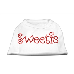 Mirage Pet Products Sweetie Rhinestone Shirts White M (12)