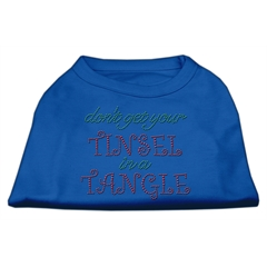 Mirage Pet Products Tinsel in a Tangle Rhinestone Dog Shirt Blue Med (12)