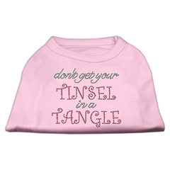 Mirage Pet Products Tinsel in a Tangle Rhinestone Dog Shirt Light Pink XXL (18)