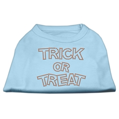 Mirage Pet Products Trick or Treat Rhinestone Shirts Baby Blue L (14)