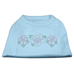 Mirage Pet Products Tropical Flower Rhinestone Shirts Baby Blue XL (16)