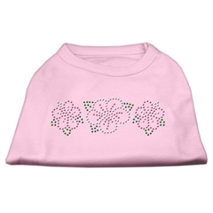 Mirage Pet Products Tropical Flower Rhinestone Shirts Light Pink XS (8)
