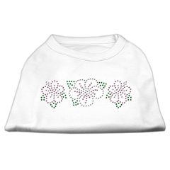 Mirage Pet Products Tropical Flower Rhinestone Shirts White XXL (18)