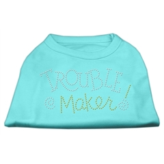 Mirage Pet Products Trouble Maker Rhinestone Shirts Aqua XXXL(20)