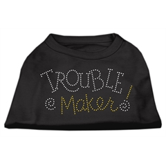 Mirage Pet Products Trouble Maker Rhinestone Shirts Black L (14)