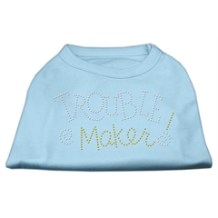 Mirage Pet Products Trouble Maker Rhinestone Shirts Baby Blue XXL (18)