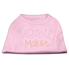 Mirage Pet Products Trouble Maker Rhinestone Shirts Light Pink S (10)
