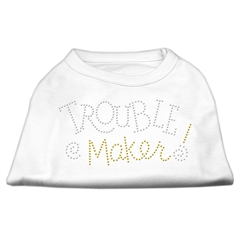 Mirage Pet Products Trouble Maker Rhinestone Shirts White S (10)