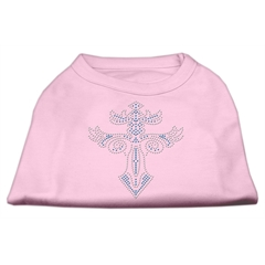 Mirage Pet Products Warrior's Cross Studded Shirt Light Pink M (12)
