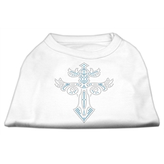 Mirage Pet Products Warrior's Cross Studded Shirt White L (14)