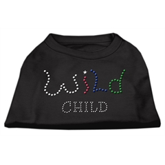 Mirage Pet Products Wild Child Rhinestone Shirts Black XXXL(20)
