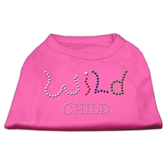 Mirage Pet Products Wild Child Rhinestone Shirts Bright Pink XXL (18)