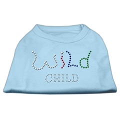 Mirage Pet Products Wild Child Rhinestone Shirts Baby Blue M (12)