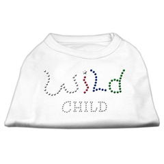 Mirage Pet Products Wild Child Rhinestone Shirts White XXL (18)