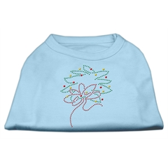 Mirage Pet Products Christmas Wreath Rhinestone Shirt Baby Blue XXL (18)