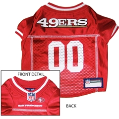 Mirage Pet Products San Francisco 49ers Jersey Small