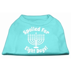 Mirage Pet Products Spoiled for 8 Days Screenprint Dog Shirt Aqua Med (12)