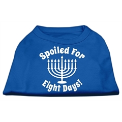 Mirage Pet Products Spoiled for 8 Days Screenprint Dog Shirt Blue Sm (10)