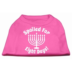 Mirage Pet Products Spoiled for 8 Days Screenprint Dog Shirt Bright Pink XXXL (20)