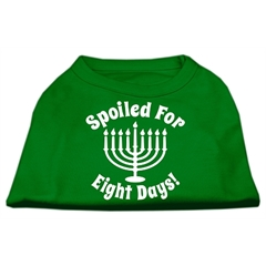 Mirage Pet Products Spoiled for 8 Days Screenprint Dog Shirt Emerald Green Sm (10)