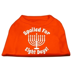 Mirage Pet Products Spoiled for 8 Days Screenprint Dog Shirt Orange XS (8)