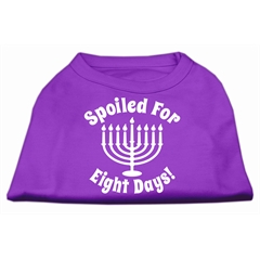 Mirage Pet Products Spoiled for 8 Days Screenprint Dog Shirt Purple XXXL (20)