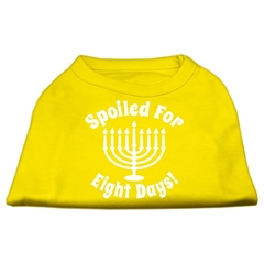 Mirage Pet Products Spoiled for 8 Days Screenprint Dog Shirt Yellow Med (12)