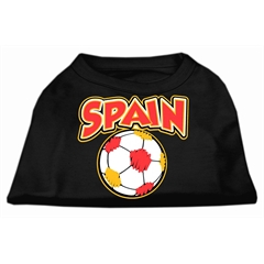 Mirage Pet Products Spain Soccer Screen Print Shirt Black 6x (26)
