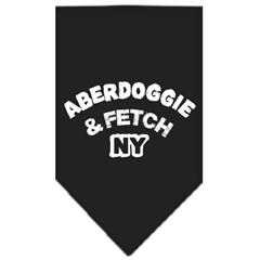 Mirage Pet Products Aberdoggie NY Screen Print Bandana Black Small
