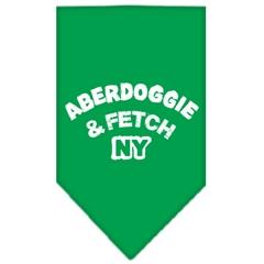 Mirage Pet Products Aberdoggie NY Screen Print Bandana Emerald Green Large