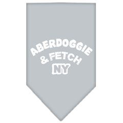Mirage Pet Products Aberdoggie NY Screen Print Bandana Grey Large