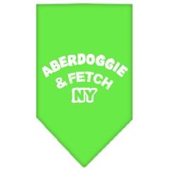 Mirage Pet Products Aberdoggie NY Screen Print Bandana Lime Green Large