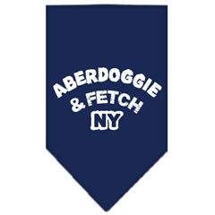 Mirage Pet Products Aberdoggie NY Screen Print Bandana Navy Blue Small