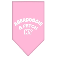 Mirage Pet Products Aberdoggie NY Screen Print Bandana Light Pink Small
